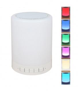 Touchlampe mit Bluetooth-Lautsprecher und Farbwechsel Nachtlicht Nachttischlampe