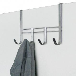 Metall Türgarderobe mit 4 Haken Garderobenleiste Kleiderhaken Türhaken Garderobe