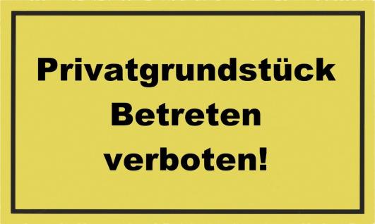 """METAFRANC SCHILD Kennzeichnungsschild ,, Privatgrundstück"""" 500290 Privatgr.betre.verb."""