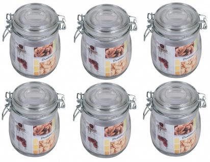 6x Drahtbügelglas 0, 7 Liter Einmachgläser Einweckgläser Vorratsgläser Sturtzglas
