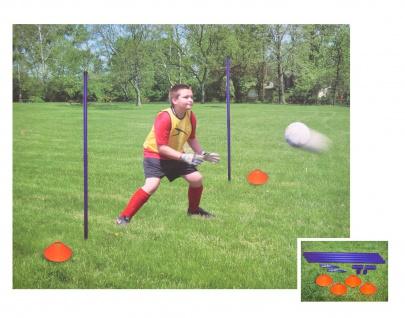 Fußballtraining-Set Trainingsgerät Koordination Markierungshütchen Fussball