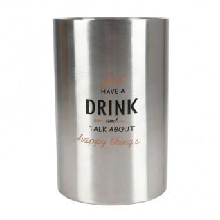 Weinkühler aus Edelstahl Flaschenkühler Sektkühler Eiseimer Wein Sekt Champagner - Vorschau 2