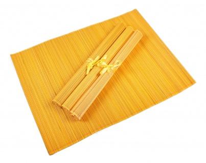 Bambus Platzset 4er Platzdeckchen Tischmatten Platzmatte Untersetzer Tischdecke - Vorschau 5