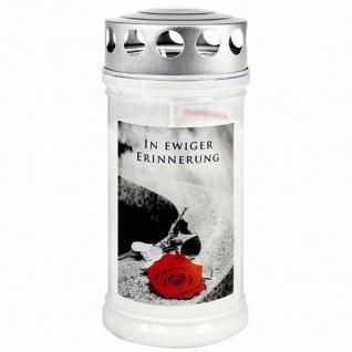 """Gedenkkerze """" In ewiger Erinnerung"""" 170 x 75 mm 4 Tage"""