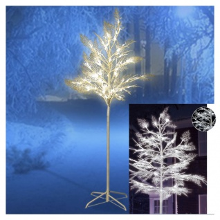 LED Baum Fichte Leuchtbaum Lichterbaum 120 LEDs 150cm beschneit Weihnachtsbaum