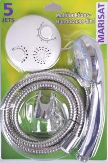 Multifunktions-Handbrause 5 Strahlarten mit Wandhalter und Radio Handbrausenset