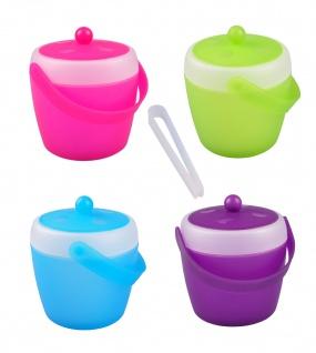 Eiswürfeleimer 1, 5L mit Eiszange Eiswürfelbehälter Eiseimer Eiskübel Eiskühler