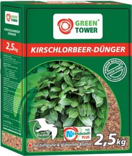 GREEN TOWER GT Kirschlorbeer-Dünger mit Guano Kirschlorbeer-dÜnger 2, 5 Kg