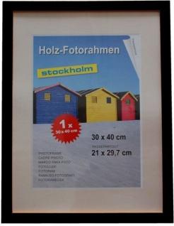Holz Fotorahmen Bilderrahmen 30x40 cm Holzrahmen Rahmen Galerie Wanddeko - Vorschau 3