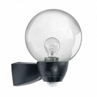 AL Monza/Garda Sensorleuchte 77W HV-Halogenlampe schwarz matt Glas klar Lampe
