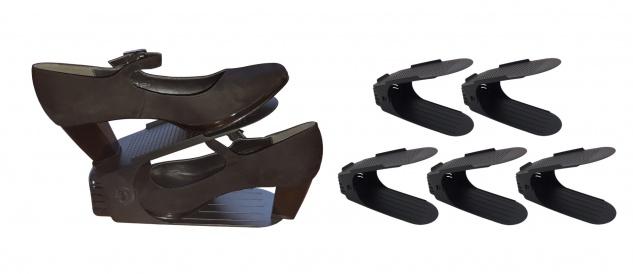 Schuhorganizer 5er-Set Schuhstapler Schuhhalter Schuhregal Ablage verstellbar