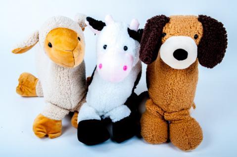 Kuschelkissen in 3 Tierformen Kinderkissen