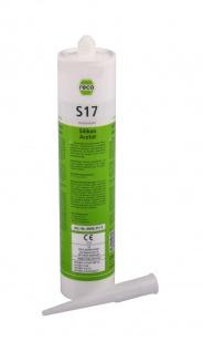 Reca Silikon Acetat S17 transparent 310ml Sanitärsilikon Nasszelle Kartusche