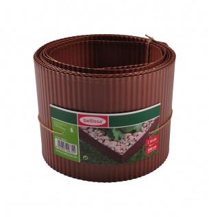 Bellissa Rasenkante lackiert 5m Beeteinfassung Beetumrandung Mähkante Metall - Vorschau 3
