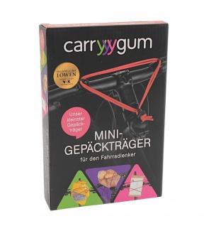 carryyygum Mini Gepäckträger rot Lenkerspannband Fahrrad Bike Gepäckband