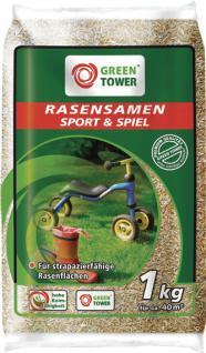 Greentower GT Sport- und Spielrasensamen Sport&spiel- Rasensaat 1 Kg Btl.