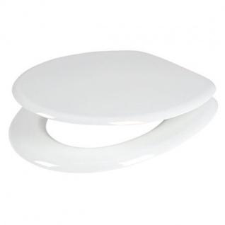 WC-Sitz weiß Toilettendeckel Klodeckel Toilettensitz Klobrille MDF Brille Deckel - Vorschau