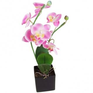 Künstliche Orchidee 2 Rispen rosa 37cm Kunstblume Kunstpflanze Zimmerpflanze