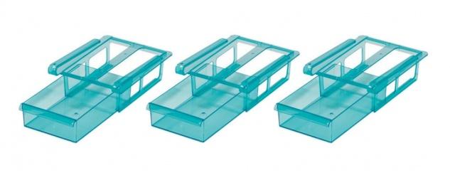 GOURMETmaxx Kühlschrank-Schubfächer 3er-Set Vorratsfach Schubladen Vorratsdosen