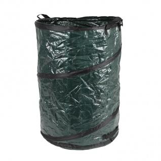 Pop Up Garten-Abfallbehälter 120 Liter Laubsammler Gartenbehälter Abfallbehälter