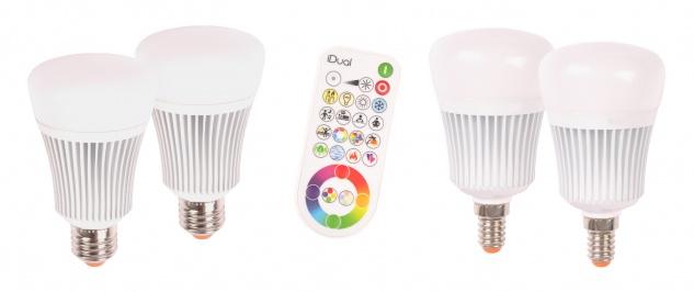Müller Licht iDual LED Leuchtmittel 2er-Set mit Fernbedienung Glühbirne dimmbar