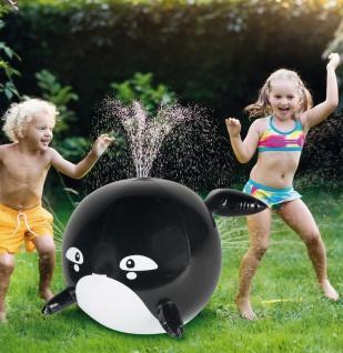 Wassersprinkler Orca Fontäne Wasserball Wasserspritze Wasserspielzeug Spritzball