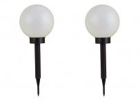 2er-Set LED-Solar-Kugelleuchte Kugellampe Leuchtkugel Solarlampe Lichtkugel