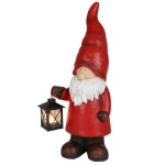 Weihnachtswichtel 50cm mit Teelicht-Laterne Weihnachtsfigur Gartendeko Dekofigur