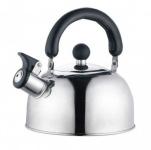 Edelstahl Flötenkessel 2, 5 Liter Teekessel Wasserkessel Pfeifkessel Wasserkocher