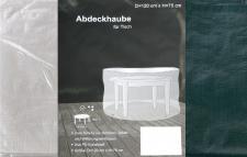 Abdeckhaube für Rundtisch 120x75cm Schutzhülle Abdeckplane Terrassenschutz Möbelabdeckung