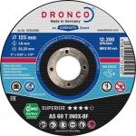 DRONCO TRENNSCHEIBE Spezialtrennscheiben für Metall 1121240 125x1, 0 Inox