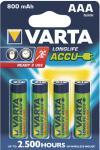 "Varta Akkubatterien ,, ready 2 use"" 56703-101-404 Accu-batt.micro"