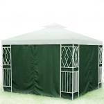 4er-Set Seitenteile für 3x3m Pavillon Grün Reißverschluss Seitenwände Partyzelt