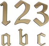 HAUSNUMMERN-MESS-BR.120MM Hausnummer 0421917 421917-0-