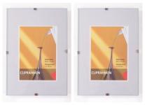 2er Set Rahmenlos Bilderhalter Bilderrahmen 10, 5x15 cm Fotorahmen Rahmen