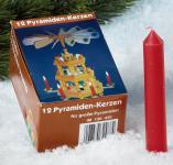 """PYRAMIDENKERZE Pyramidenkerzen ,, Groß """" 12st.rot Gross130430"""