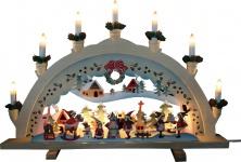 Brema LICHTERBOGEN Stimmungsleuchter 132514 10 Kerzen Lack.