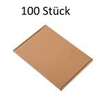 100 Stück Wellpapp-Faltkarton Versandpackung Versandkarton Pappkarton Faltpappe