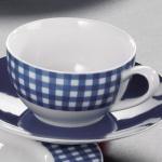 Flirt KAFFEE Kaffeeobere 50765 Obere Karo Blau