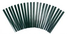 100 PVC grün Klemmleisten Sichtschutz Klemmschienen Zaun Doppelstabmattenzaun Clipse