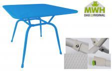 MWH-Tisch Conello 90x90x74cm blau Streckmetalltisch Gartentisch Tisch Möbel
