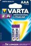 """Varta Batterien ,, Professional Lithium"""" 06103-301-402 Li-batter. 2er Aaa"""