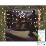LED Sternenvorhang 126x90 Weihnachtsdeko Lichtervorhang Fensterdeko Lichterkette