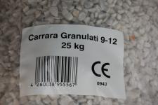 Marmorsplitt 25 Kg 9-12mm Carraca Granulat kies (Kg=0, 40EUR)