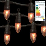 Lichterkette Flammen Flackerlicht Gartenbeleuchtung Dekolicht Kaminbeleuchtung