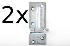 2 Stück Kloben elektrisch verzinkt D 1, 16 mm für Ladenband Plattenhaken Haken