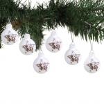Glas-Weihnachtsbaumkugeln Estrella 6er-Set Christbaumkugeln Stern Zapfen Deko