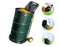 Laubbehälter-Trolley Gartenkarre Gartentrolley Laubsammler Schaufel Gerätehalter