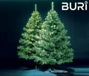 BURI® künstlicher Weihnachtsbaum 210cm Tannenbaum Christbaum Tanne Kunstbaum