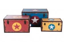 Holztruhe Sterndesign Vintage Holzkiste Holztruhe Truhe Kiste Aufbewahrungsbox